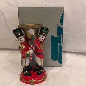 Partylite Toy Soldiers Candle Stick Holder Xmas